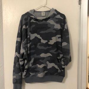 Grey camo PINK hoodie